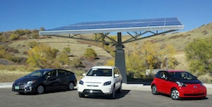 3 Toyota EV at NREL Solar