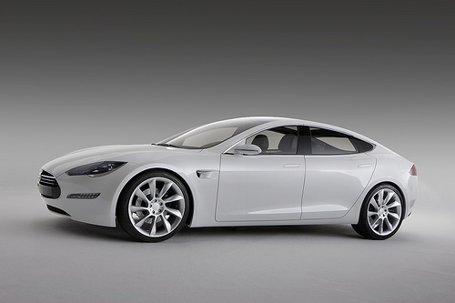 Tesla S Sedan Tesla's Progress with Model S and 300 Mile Electric Car Range