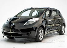 LEAF IIHS Side Test Chevrolet Volt and Nissan LEAF Electric Cars Earn Highest Safety Ratings