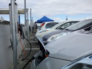 Charging 15 Electric Cars