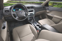 Ford Fusion Hybrid interior 37k Ford Fusion Hybrid and Plug in Hybrid for Best Sedan MPG
