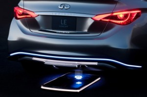 Infiniti LE Concept WCS Pad 300x199 Wireless Charging of Electric Cars