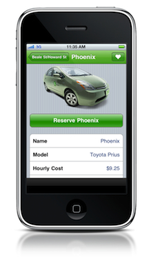 zip app reserveprius 24k Car Sharing Now Has One Million Members