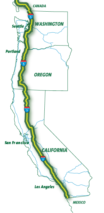 I5 corridor map Oregon's Electric Car Charging Station Network