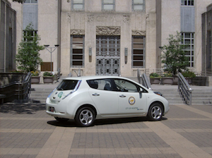 Nissan LEAF Zipcar Houston