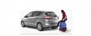 cmax woman liftgate 37k 300x118 Ford C MAX Test Drive of a Crossover with 600 mile Range