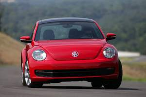 Beetle Handling 300x200 21K The new Volkswagen Beetle   40 mpg blast from the past