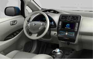 Nissan LEAF Behind Wheel
