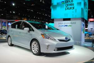 Toyota Prius V Top 10 Best Selling High MPG Cars in March 2013